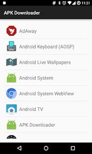 APK Downloader - náhled