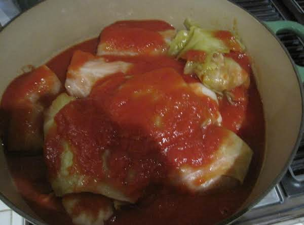 Stuffed Cabbage W/italian Sausage Stuffing Recipe