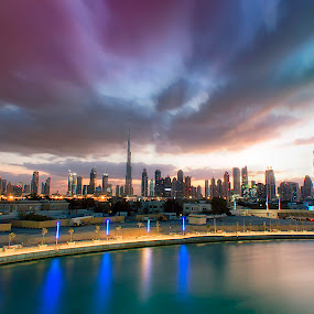 Dubai City by Ricky Pagador - City,  Street & Park  Skylines ( clouds, building, skyline, buildings, cloud, skylines, cityscape, city )