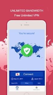Free Unlimited VPN for Wifi Unlocker - náhled