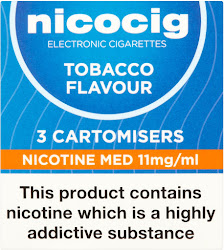 Nicocig Cartomisers - 3 Cartomisers, Tobacco