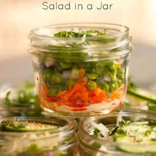 Individual Pea Salad in a Jar