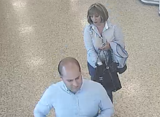 Can you identify couple following theft in Aldi Supermarket?