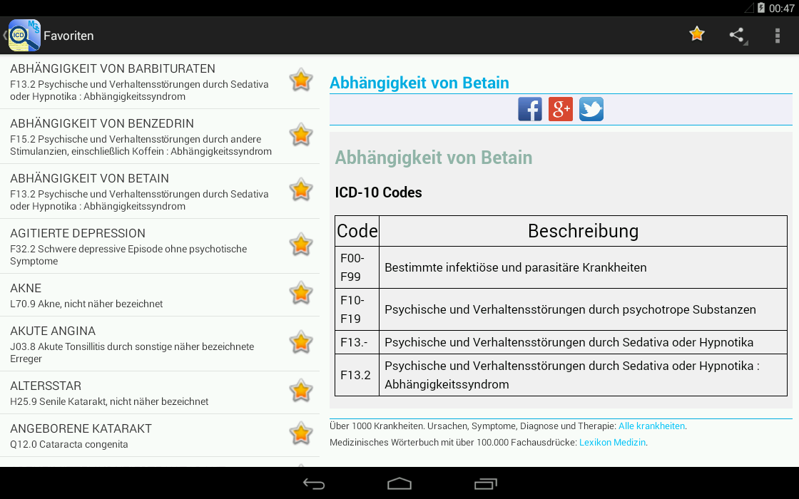 ICD-10 Diagnoseschlüssel(Free) - Android Apps on Google Play