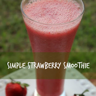 Simple Strawberry Smoothie.