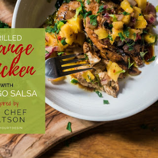 Grilled Orange Chicken with Mango Salsa