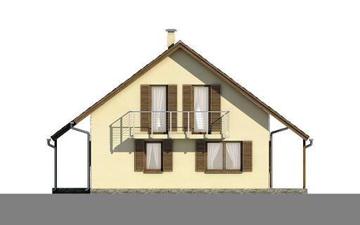 D101 - Tobiasz wersja drewniana - Elewacja lewa