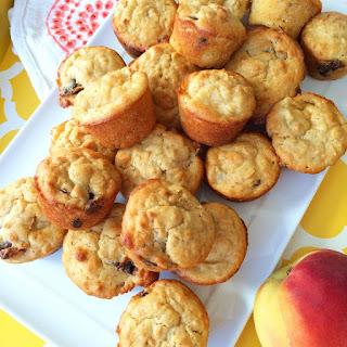 Gluten Free Peach Oat Muffins.