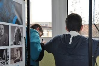 Photo: Výstava Pavel Tigrid – slovy proti totalitám (vestibul školy, prosinec 2012 - leden 2013).