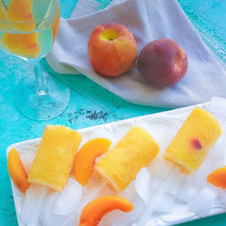 Frozen Peach Bellini Push Pops Recipe