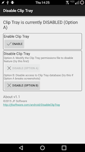 Disable Clip Tray [root]- screenshot thumbnail