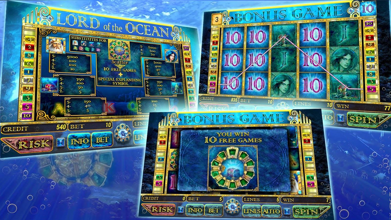 slot spielen machine lord ocean