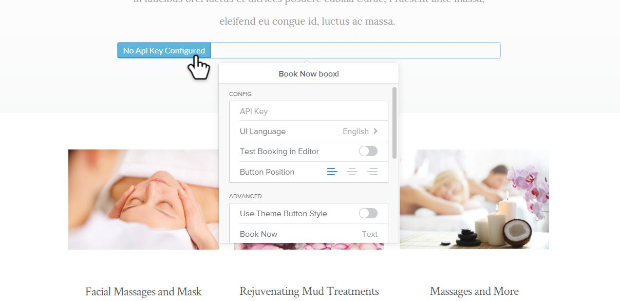 customize weebly button