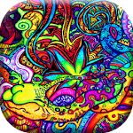 Trippy Weed Live Wallpaper Icon