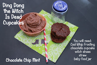 Photo: And for the Halloween cupcakes! Ding Dong the Wtich is Dead Chocolate Chip Mint Cupcakes!  Even though I I am a member of the Collective Bias™ Social Fabric® Community, all opinions are my own.  This content has been compensated as part of a social shopper insights study for Collective Bias™ and Kraft Cool Whip.  #CoolWhipFrosting #CBias #SocialFabric