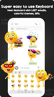 LGBT Emoji Sticker Keyboard Screenshot