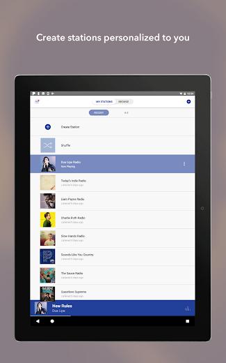 Screenshot 5 for Pandora's Android app'