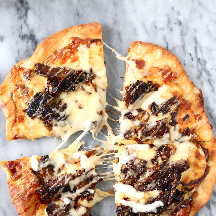Short Rib Pizza with Smoked Gouda Cream Sauce Recipe