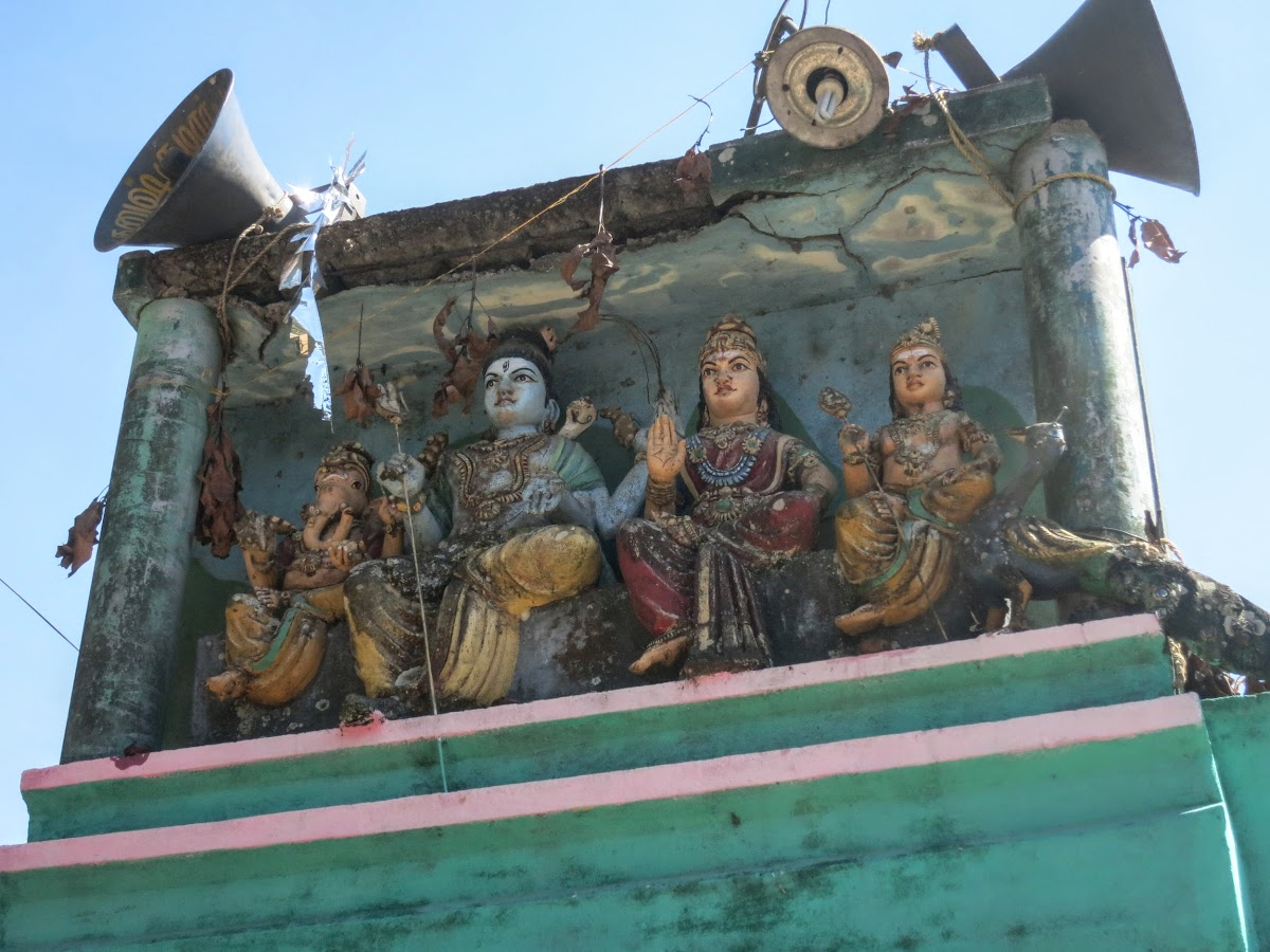 India. Kerala Motorbike Road Trip. Hindu temple on the road to Thekkady