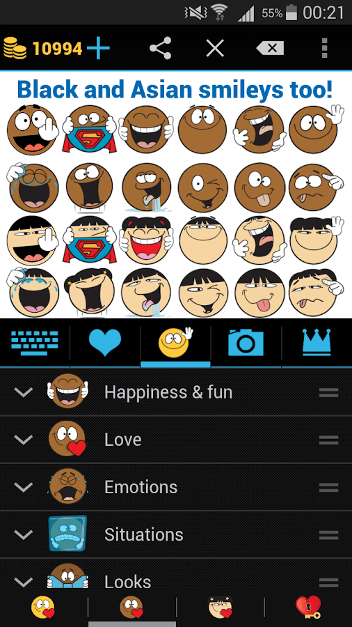 Emojidom: Chat Smileys & Emoji- screenshot