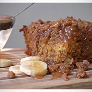 Banana Crumb Cake with Caramel Rum Sauce Recipe
