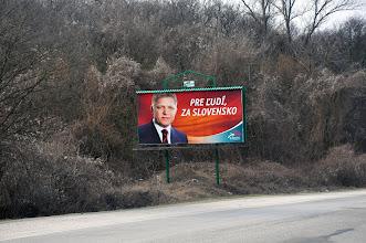 Photo: Za Slovensko! Ten plakat towarzyszył mi przez całą Słowację