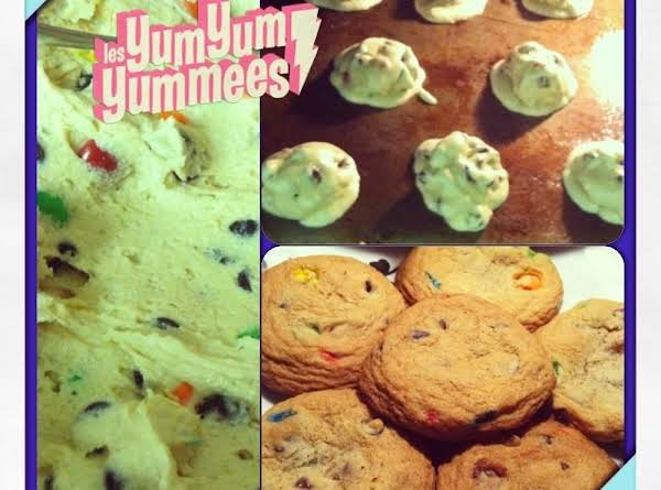 Cookie Dough, In The Oven & All Done.