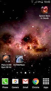Space! Stars & Clouds 3D Free screenshot 1