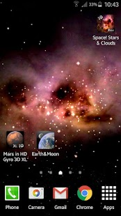 Space! Stars & Clouds 3D Free- screenshot thumbnail
