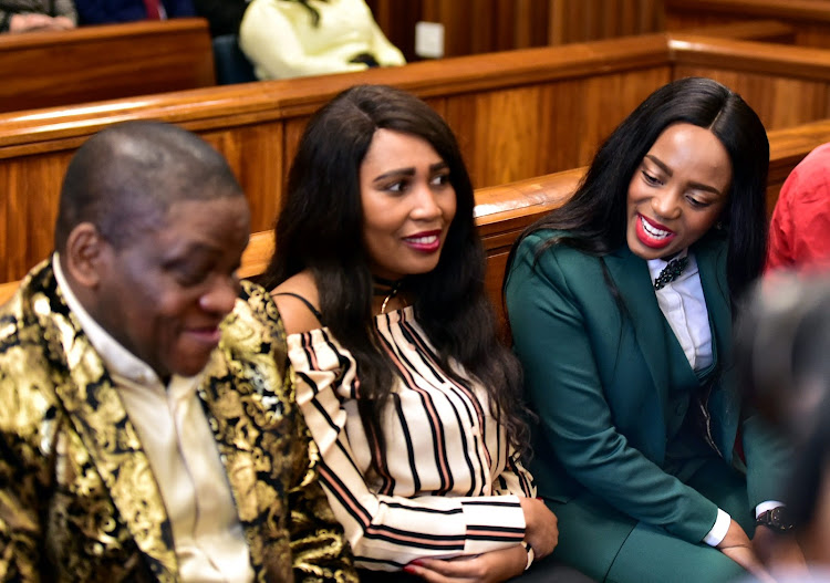 Nigerian Pastor Timothy Omotoso and His two co-accused, Lusanda Solani and Zukiswa Sitho who are accused of recruiting and grooming girls for the pastor.