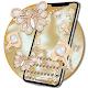 3d gyldne diamant blomst perle tastatur tema
