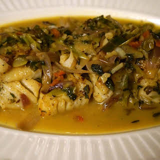 Spicy Cod Fish with White Wine.