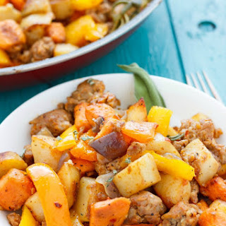 Sweet Potato Hash with Peppers and Onions