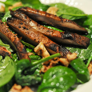 Wilted Spinach and Portobello Salad.