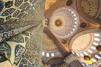 Photo: Beyazit mečetės dekoras.  Beyazit mosque décor.