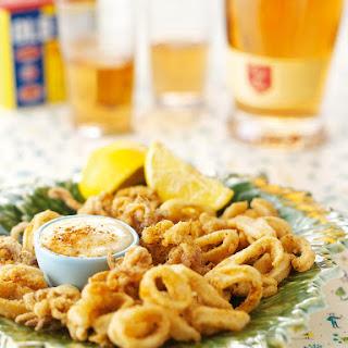 Quick Calamari With Garlic Mayonnaise
