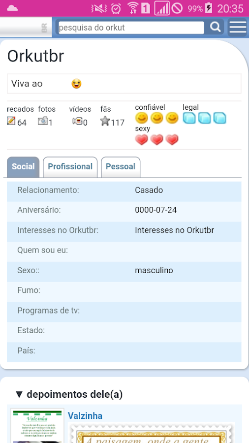 Orkutbr.com- screenshot