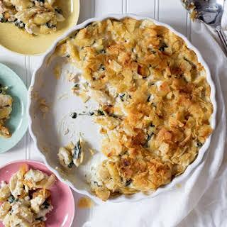 Spinach and Salmon Mac N Cheese.