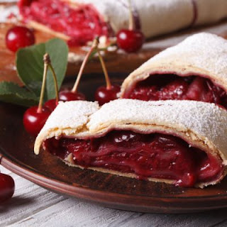 Cherry Filled Powder Sugar Crescents
