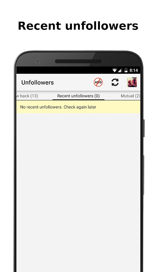 Unfollowers for Instagram- screenshot