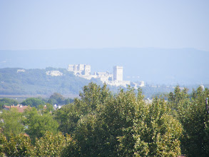 Photo: Here, at high zoom, looking towards what we think is Tarascon (which we would not see on this visit).