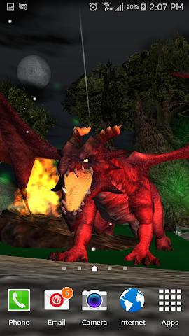 android Legendary Dragons 3D Lwp Screenshot 7