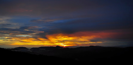 Photo: And the day ended with splendid sunset.