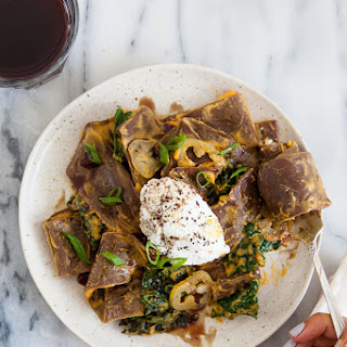 Superba Snack Bar's Cocoa Pasta with Butternut Squash, Kale and Ricotta