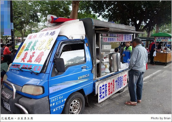 花蓮鳳林小鎮小吃。韭菜臭豆腐、明新冰菓店