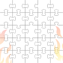 White Jigsaw Hell icon