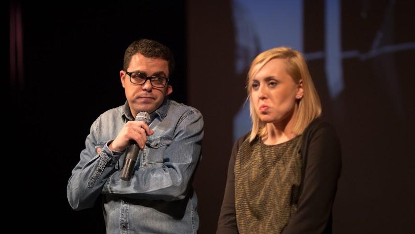 Alvarito y Nadia Torrijos durante un momento de la gala de clausura de #ccALM en el Teatro Apolo.