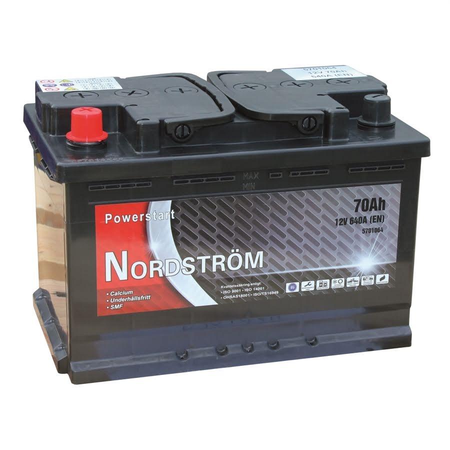 70 Ah Startbatteri Nordström