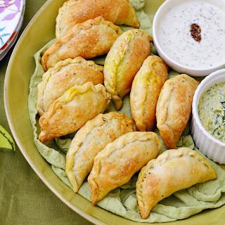 Pesto Salmon Empanadas with Turmeric Potatoes