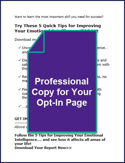 The Emotional Intelligence Advantage - Bonus OptIn Page Copy